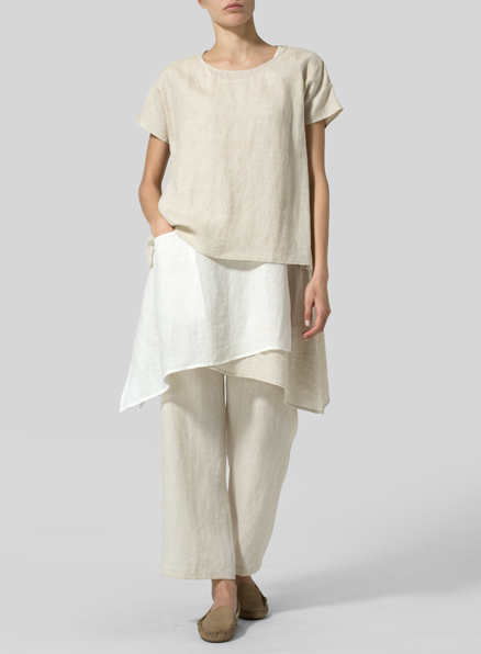 Linen Layered Top Set