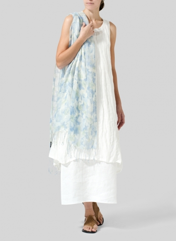 White Gauze Linen Long Vest