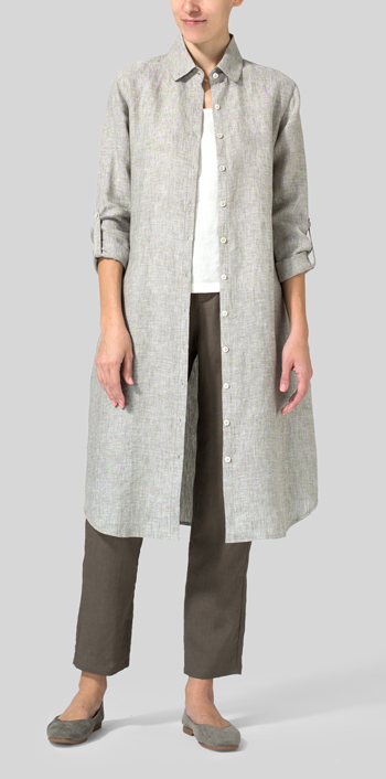 f4262c188c Tender Taupe Linen Shirt Dress