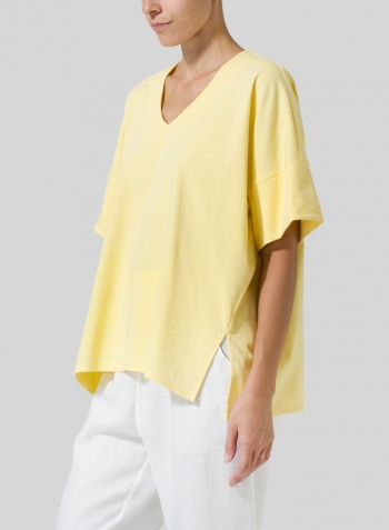 Yellow Half Raglan Sleeve Jersey