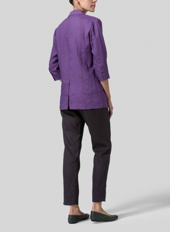Violet Linen Single Breasted Jacket