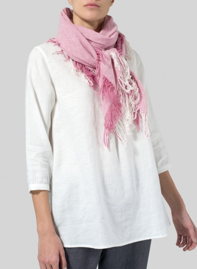 Linen Handcrafted Square Scarf