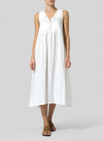 Linen Sleeveless A-line Dress