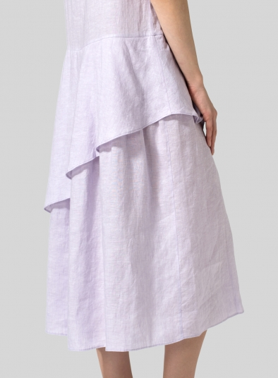 Linen Diagonal Layered Dress