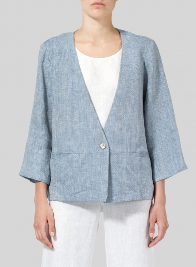 Linen Boxy Fit Jacket