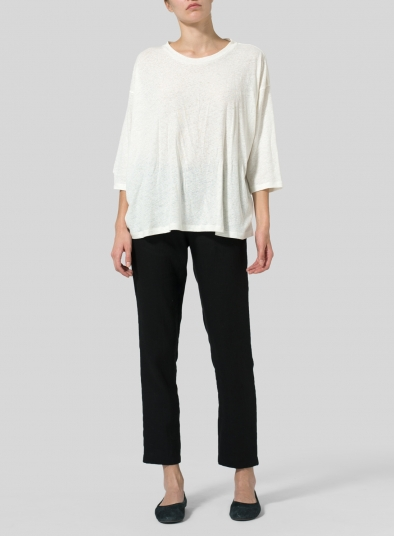 Linen Cotton Knit Top
