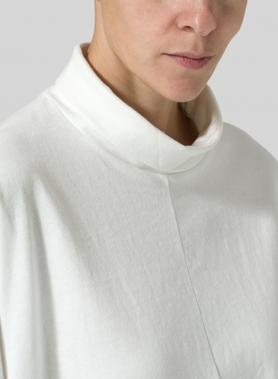Cotton Cowl Neck Box Top