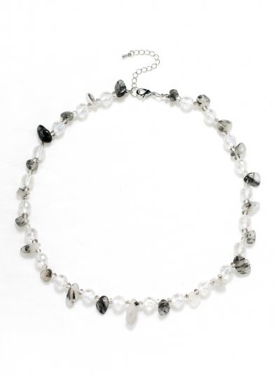 Faceted Clear Stone Necklace