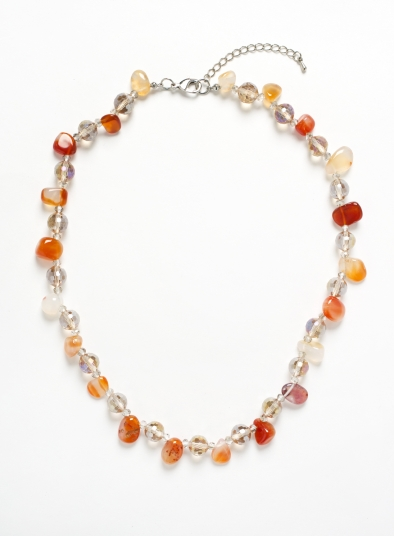 Agate Geo Shape Collar Necklace