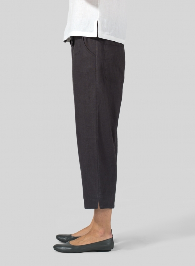 Linen Cropped Pants