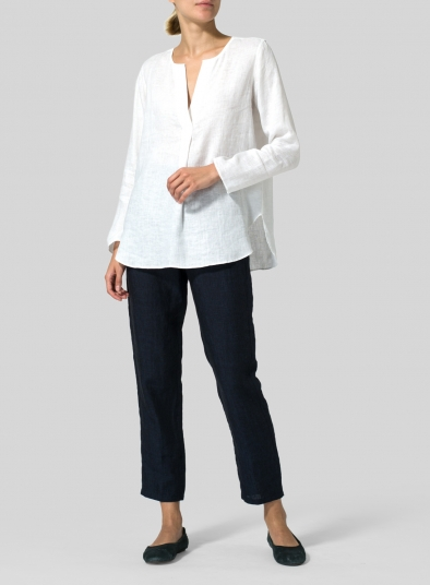 Linen L/S Relaxed Fit Blouse