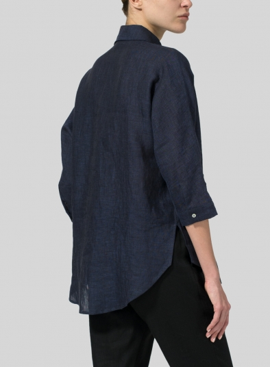 Linen Half-Button Tunic