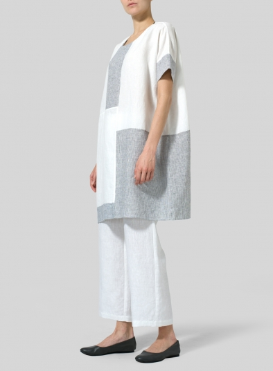 Linen Oversize Patchwork Tunic