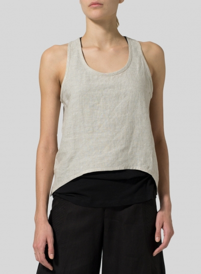 Linen Cropped Tank Top