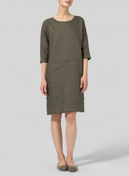 Linen Straight Cut Dress
