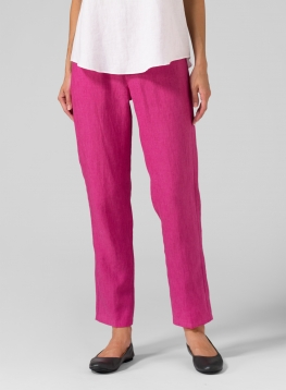 (Tall Size) Linen Slim Ankle Pants