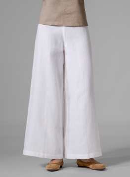 (Tall Size) Linen Ankle Length Wide Leg Pants
