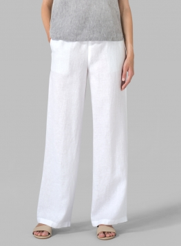 Linen Casual Extra Long Pants