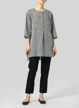Linen Chest Pocket Tunic