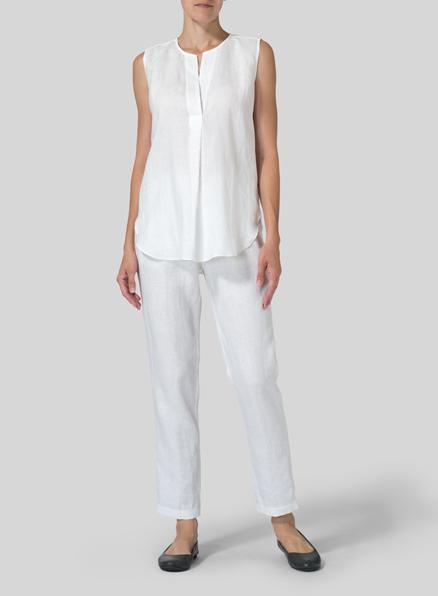 Top Linen Plus Size Clothing QB29