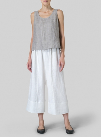 Linen Sleeveless Short Tank