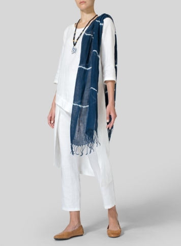 White Linen Asymmetrical Tunic