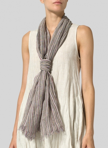 Yarn-Dyed Multi-stripe Scarf Set