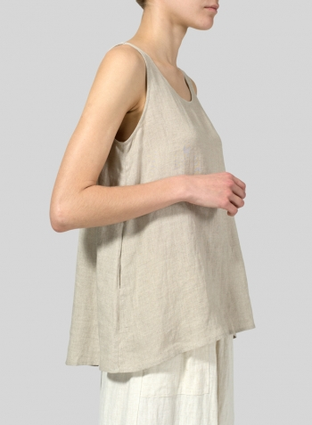Sandcastle Linen A-line Sleeveless Top