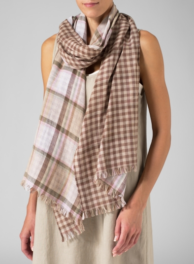 100% Cotton Double Layer Long Scarf