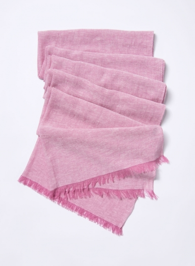 Linen Pink Scarf
