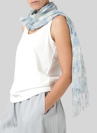 Linen Powder Pattern Drake Scarf