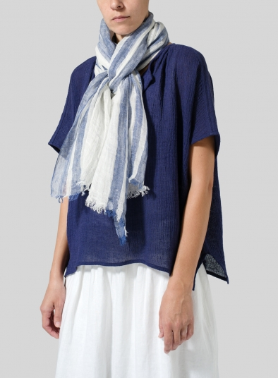 Linen Variable Stripe Scarf