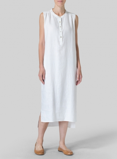 Linen Slip On Dress
