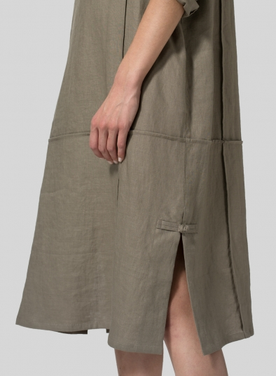 Linen Side Slits Dress