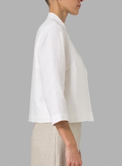 Linen Crop Blazer