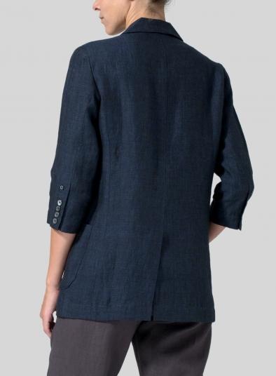 Linen Single Breasted Jacket
