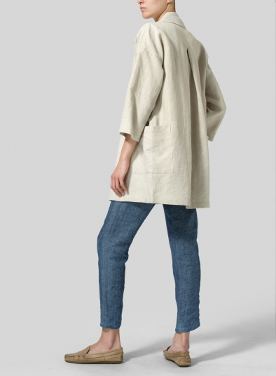 Linen Double Breasted Jacket