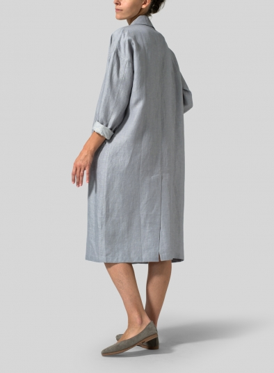 Linen Classic L/Sleeve Long Jacket
