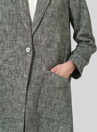 Linen Notch Lapel Jacket