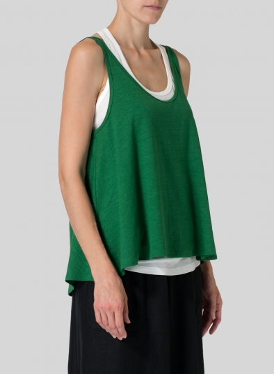 Linen Knit Sleeveless Top