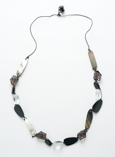 Black Cluster Necklace