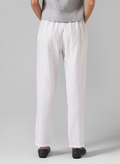 Linen Slim Ankle Pants