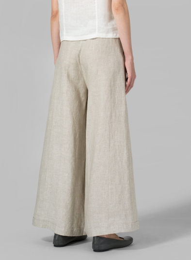 Linen Wide-Leg Extra Long Pants