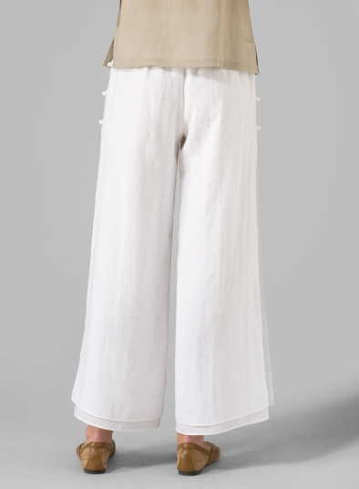 Linen Double Layers Pants