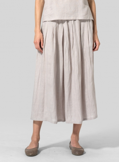 Linen Pleated Culottes