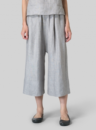 Linen Wide Straight Leg Pants