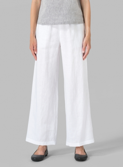 Linen Seasonless Regular Long Pants