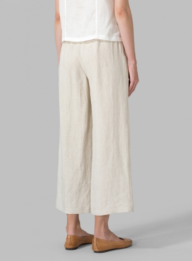 Linen Relaxed Crop Pants