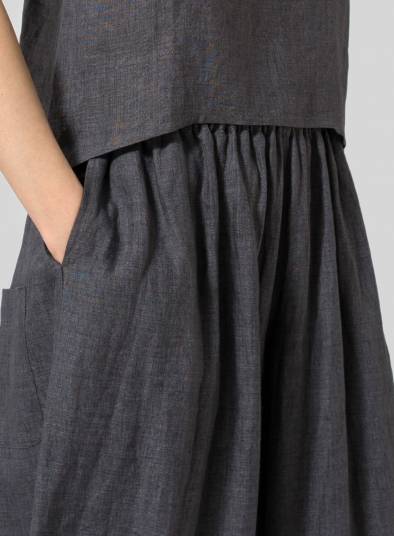 Linen Low Rise Wide Leg Long Pants