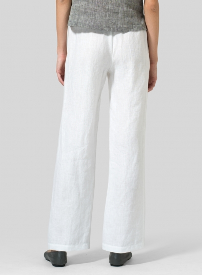 Linen Long Straight Leg Pants